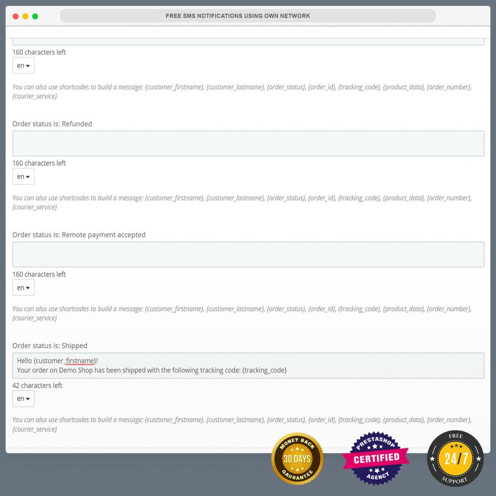 module - Boletim informativo & SMS - Notificações SMS gratuitas usando sua própria rede - 25