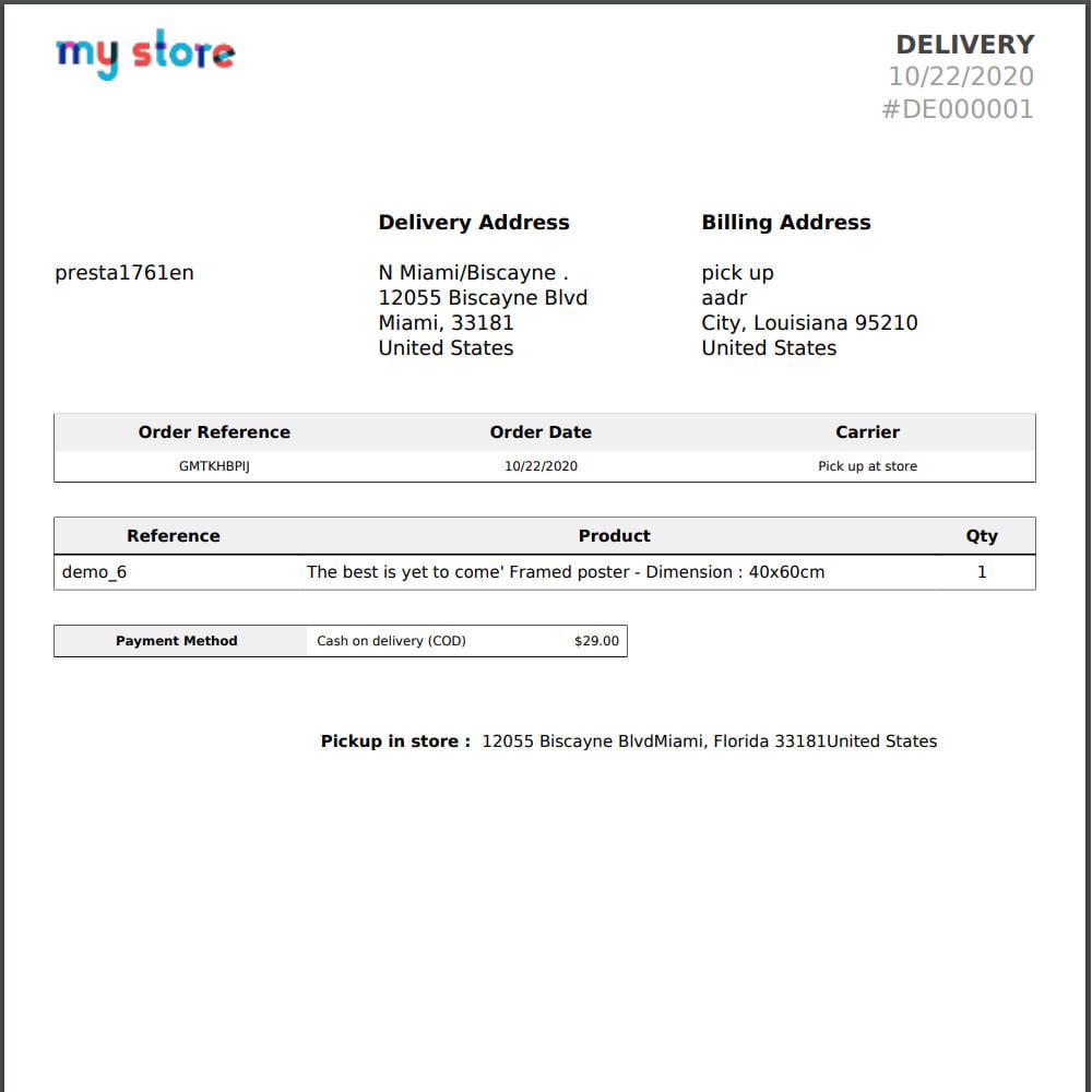 module - Pontos de retirada & Retirada na loja - Pick Up at store module with address replacement - 7