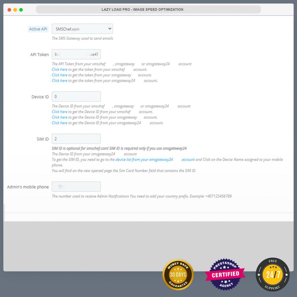 module - Newsletter & SMS - Notifications SMS gratuites en utilisant propre réseau - 1