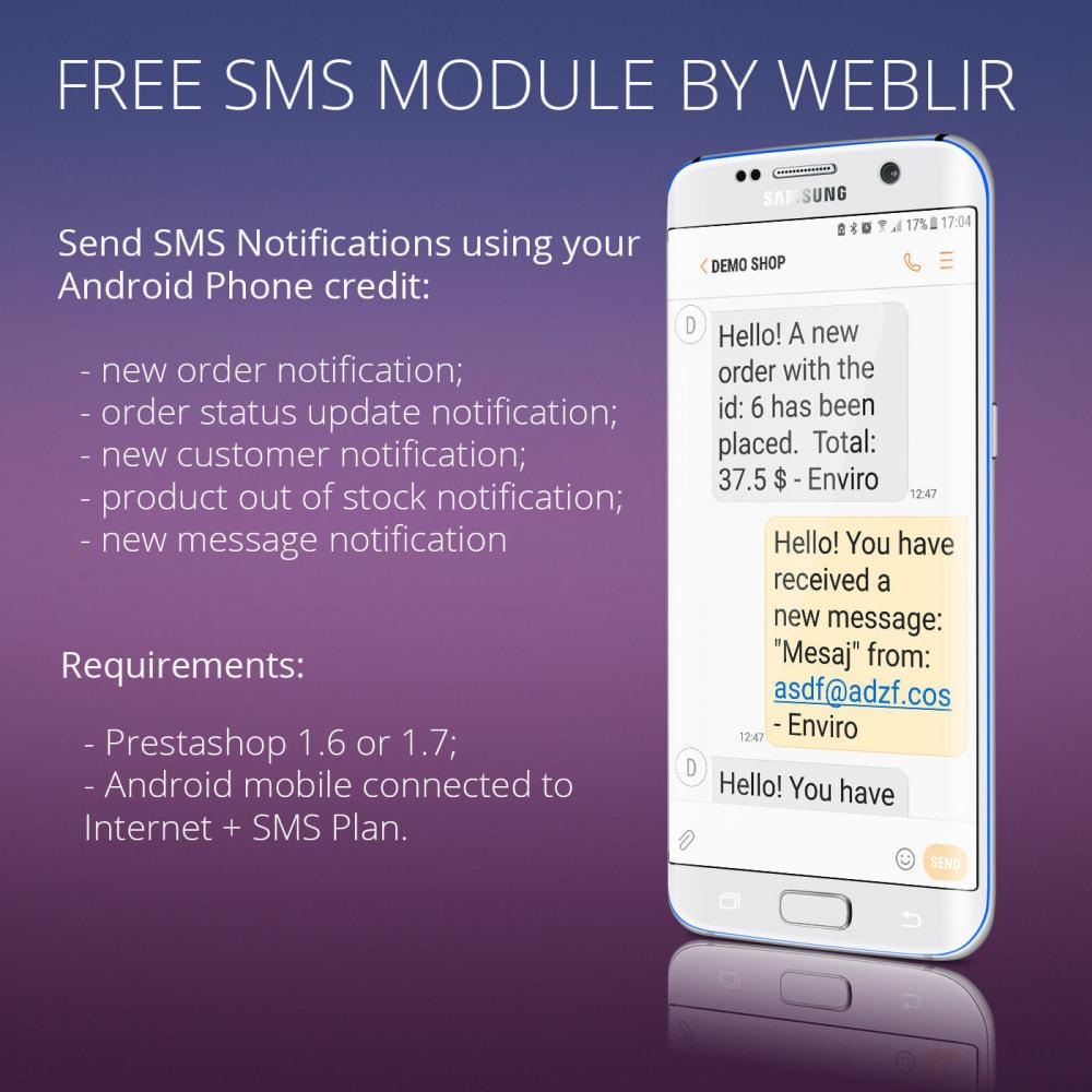 module - Newsletter y SMS - Notificaciones de SMS gratuitas usando una red propia - 3