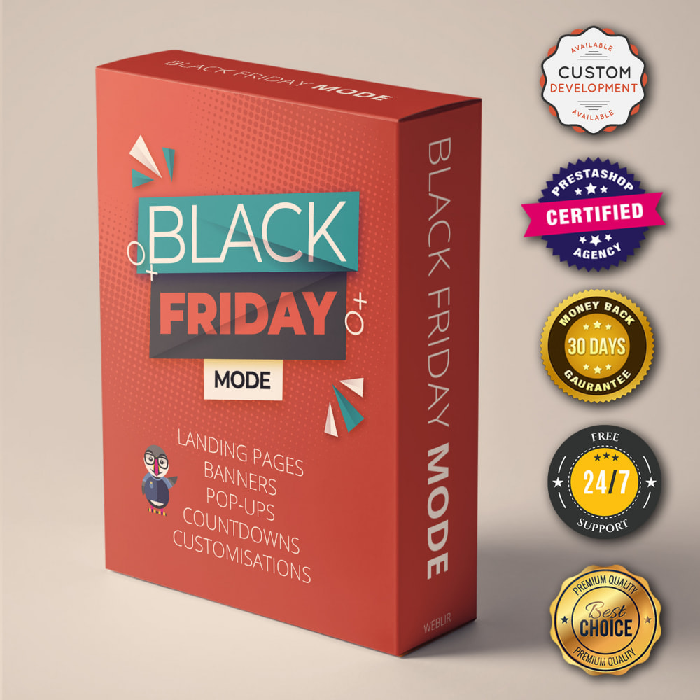 module - Promotions & Cadeaux - Mode Black Friday - Page de promotions, countdown, etc - 1
