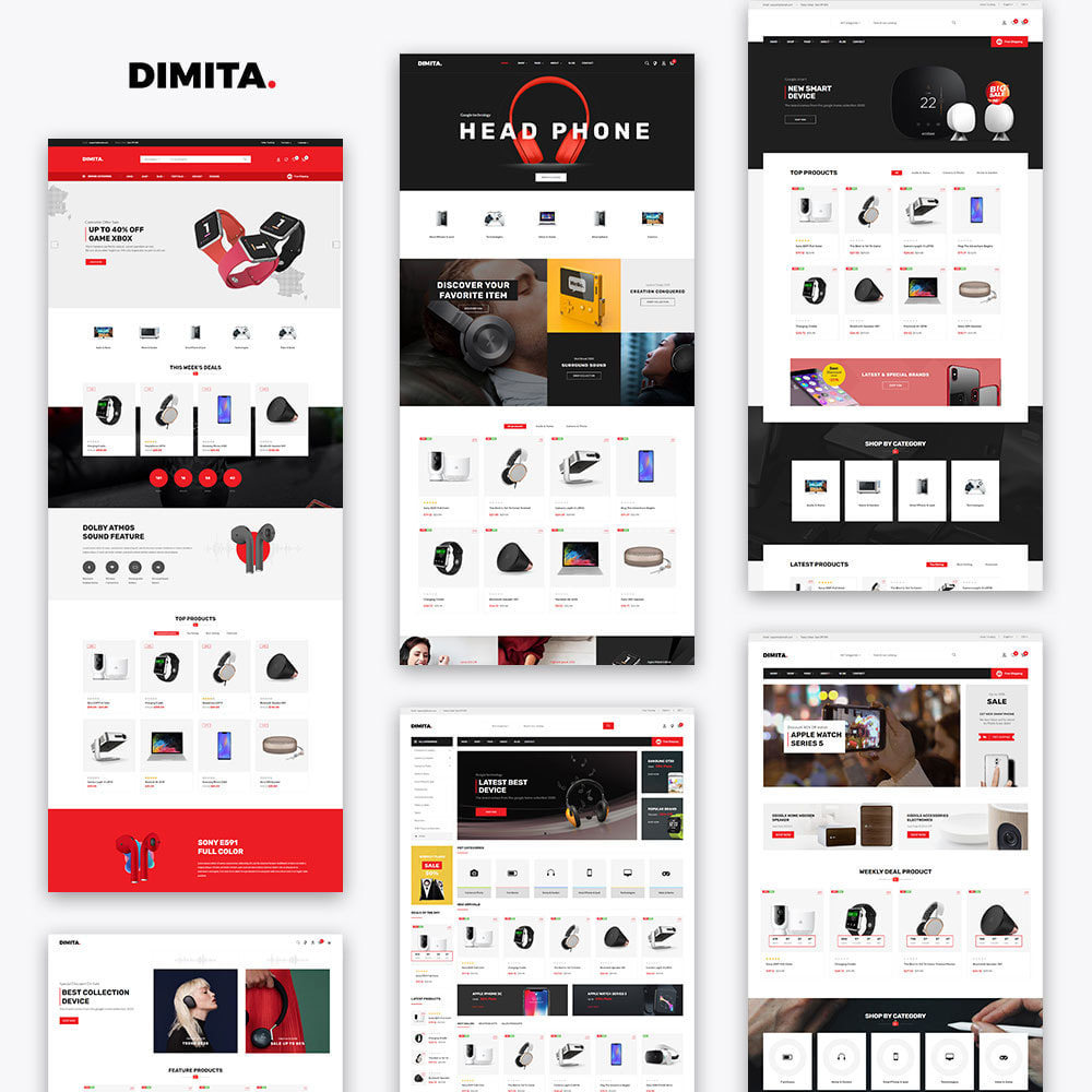 theme - Elektronika & High Tech - Dimita - Electronics Ecommerce Store - 3