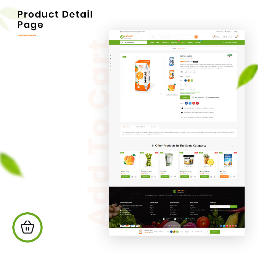 theme - Lebensmittel & Restaurants - Organic Mega–Food and Fresh–Grocery Super Store - 4