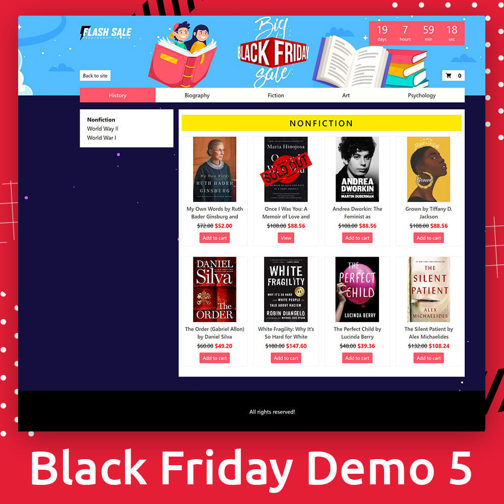 module - Promotions & Gifts - Flash SALES Page Builder PRO - Black Friday - 6