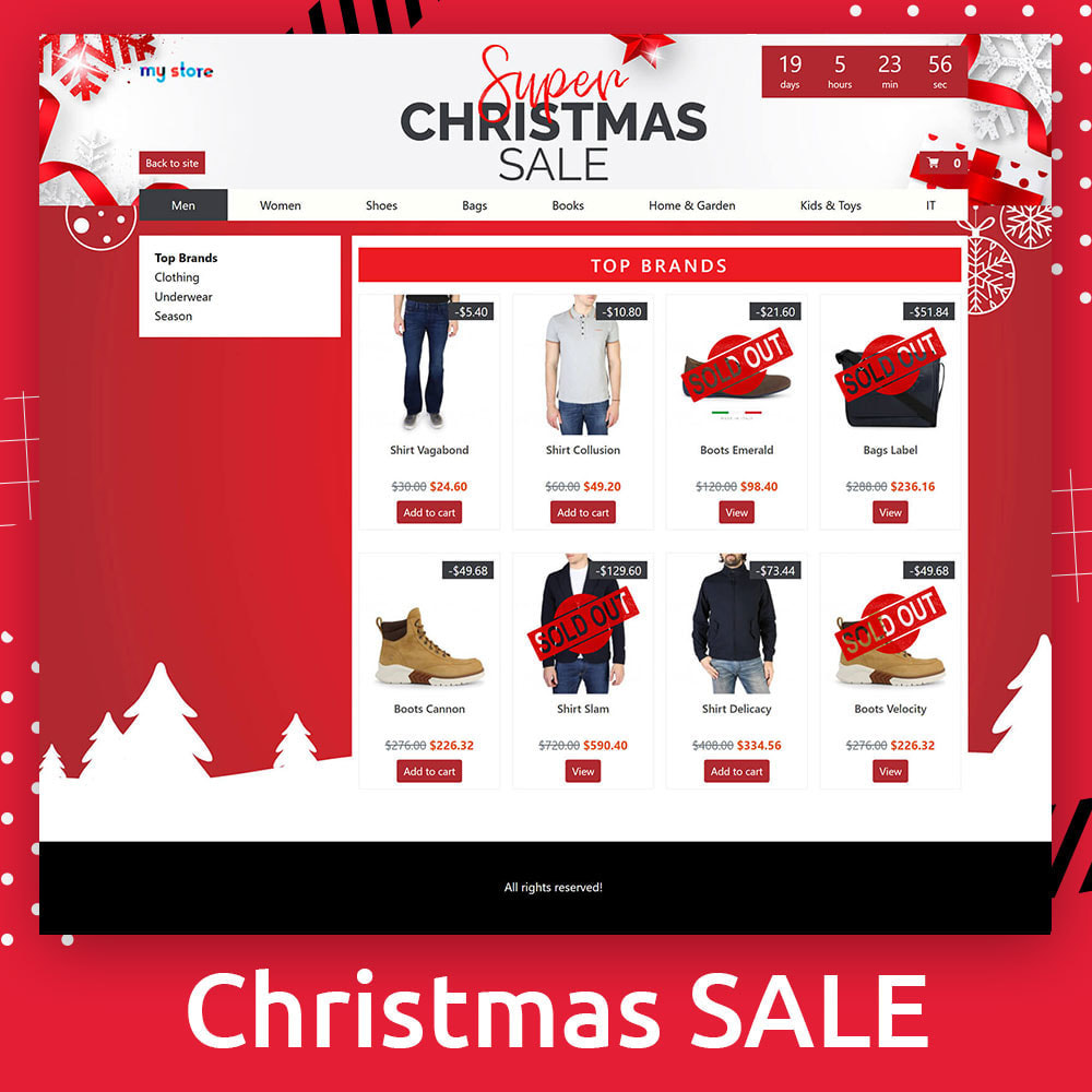 module - Promotions & Gifts - Flash SALES Page Builder PRO - Black Friday - 9