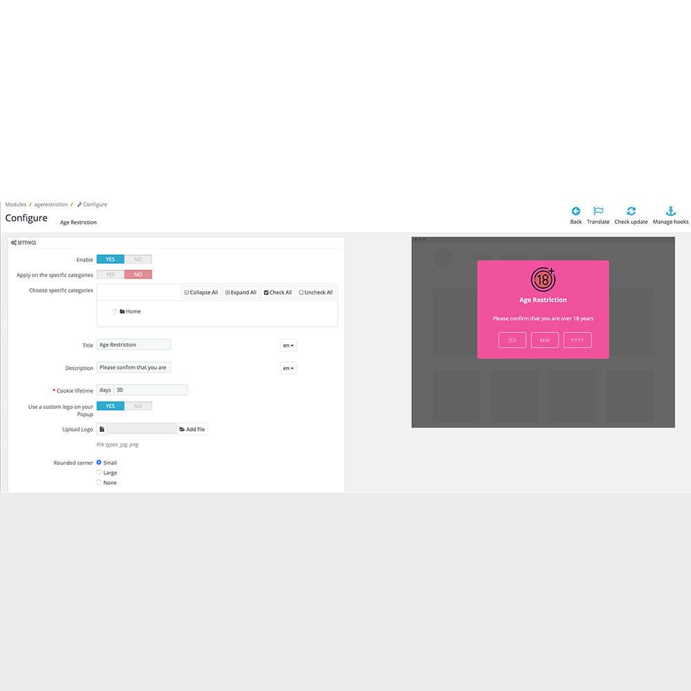 module - Sécurité & Accès - Vérification et Restriction d'âge 18+ - 5