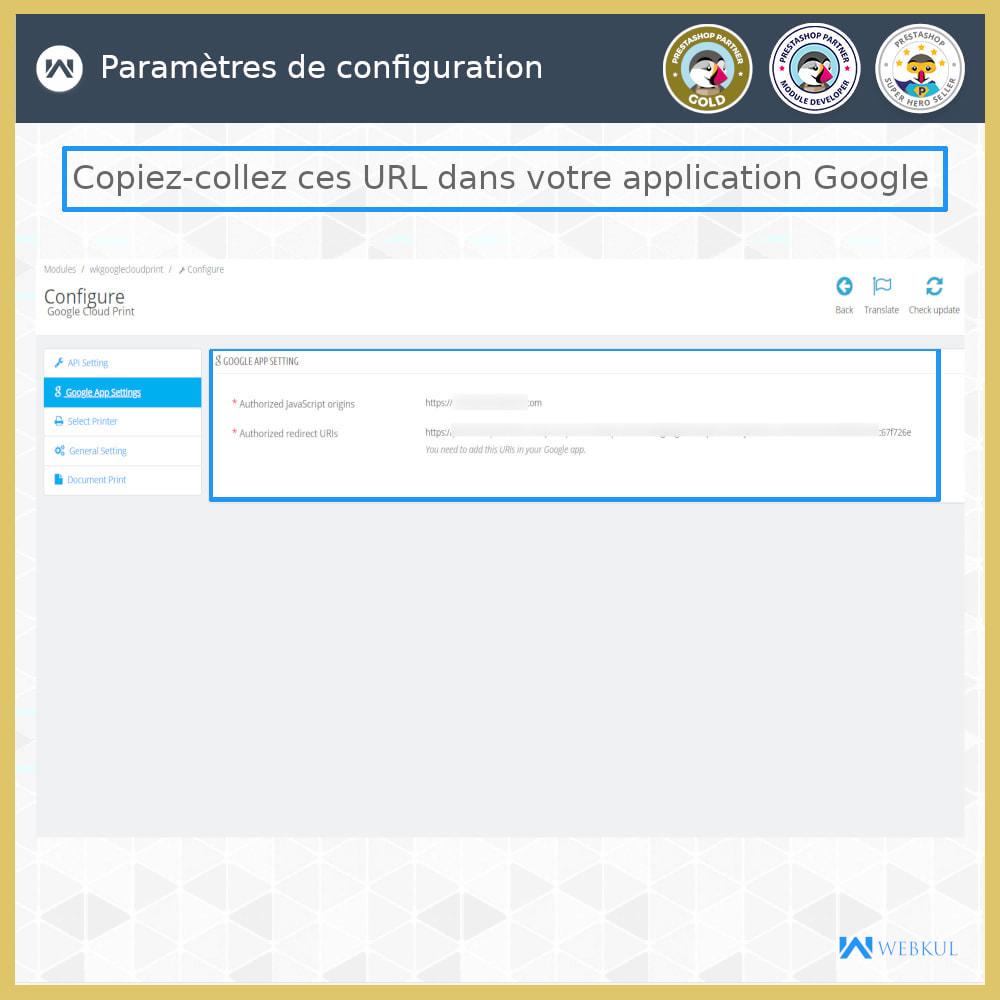 module - Préparation & Expédition - Google Cloud Print - 5