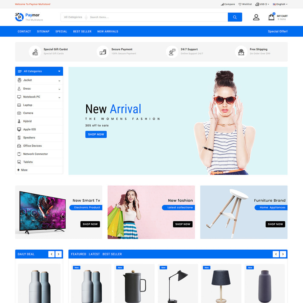 theme - Electronics & Computers - PayMore - Mega Ecommerce Store - 2