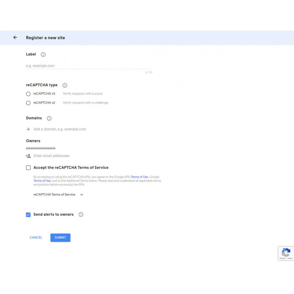 module - Security & Access - Google Recaptcha V3 Validation - 1
