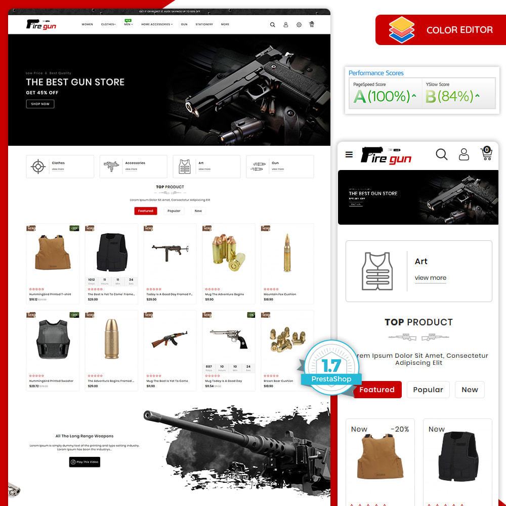 theme - Sports, Activities & Travel - Firegun - Gun & Weapons Store - 1