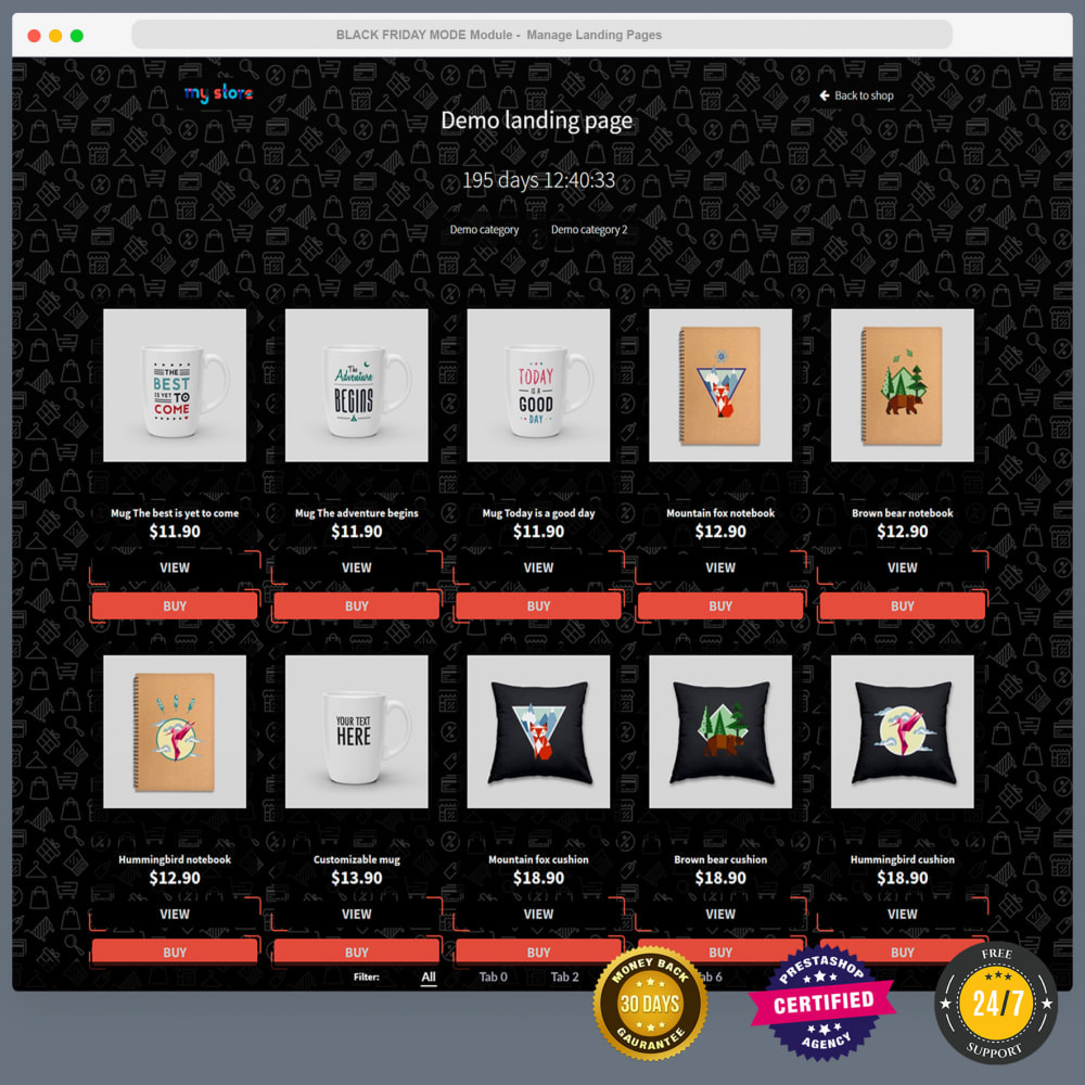 module - Promotion & Geschenke - Black Friday Mode - Promotions Seite, Countdown, Popup - 2