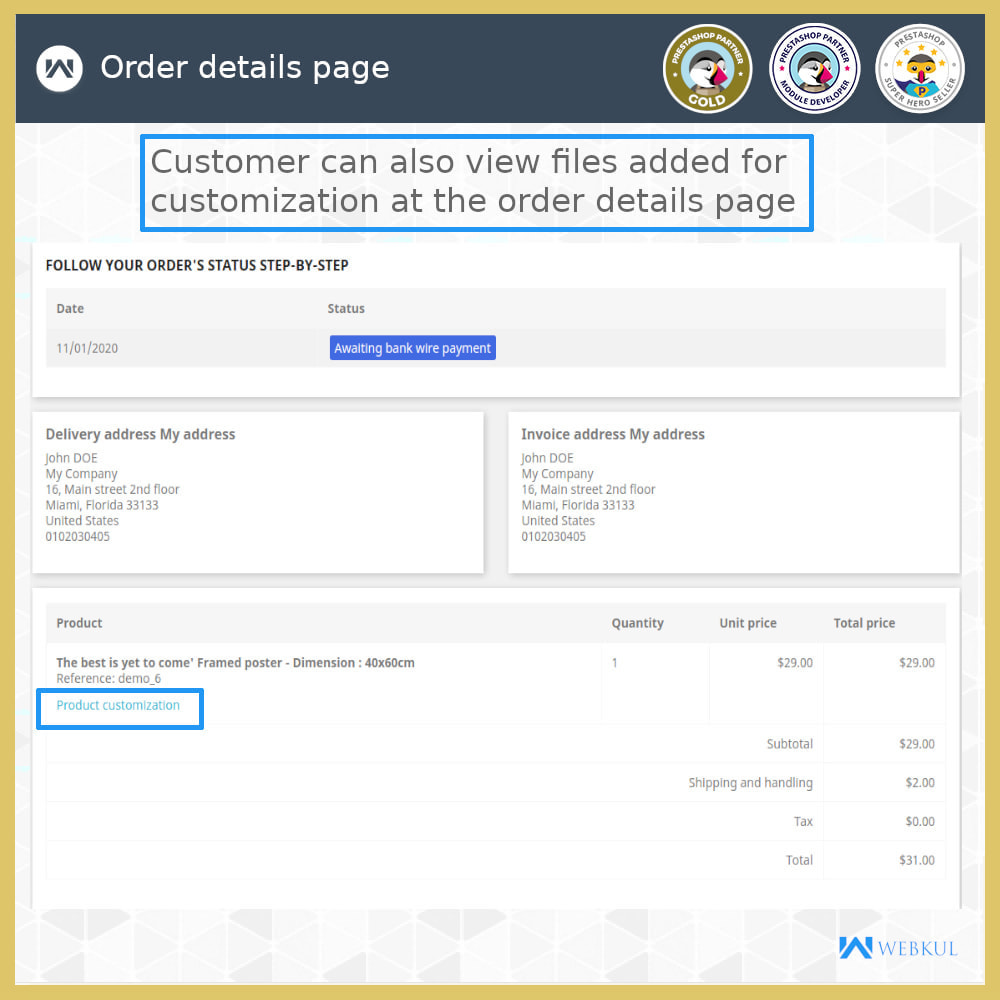 module - Registration & Ordering Process - Add Product with Customization Directly into Cart - 7