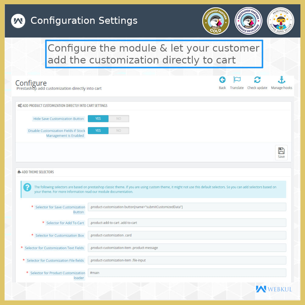 module - Registration & Ordering Process - Add Product with Customization Directly into Cart - 10