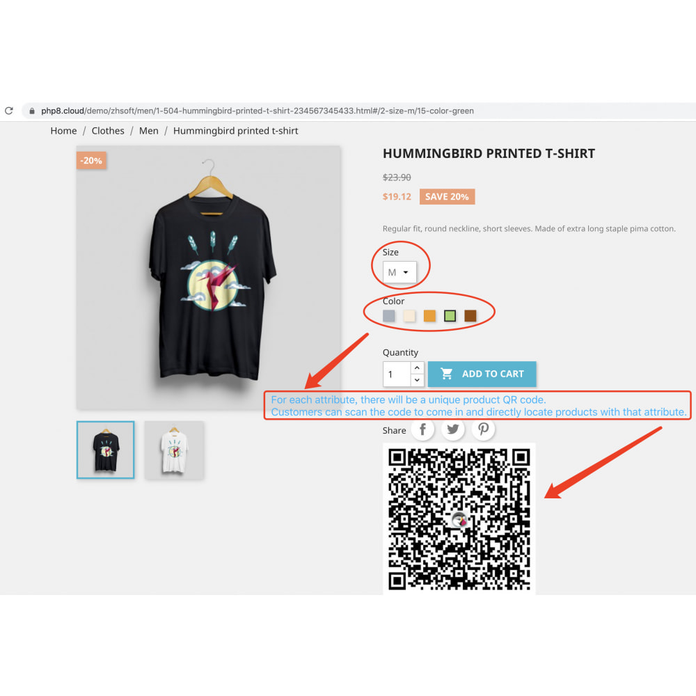 module - Mobile - QR code scan generator that supports product attributes - 2