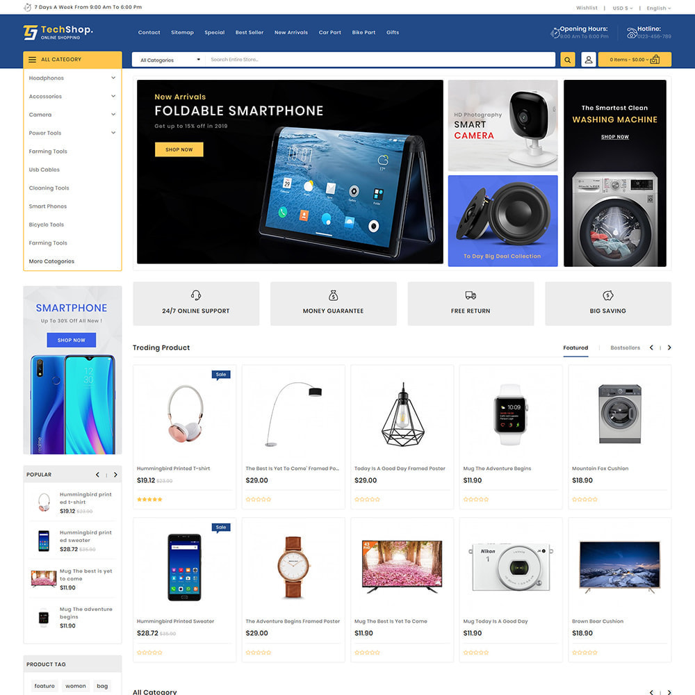 theme - Электроника и компьютеры - TechShop  - New Shopping Supermarket Store - 2