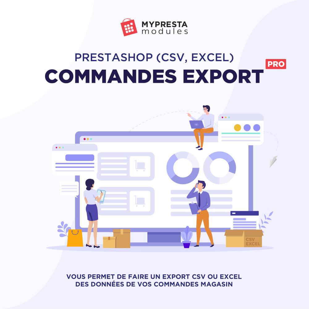 module - Import & Export de données - Commandes (CSV, Excel) Export PRO - 1
