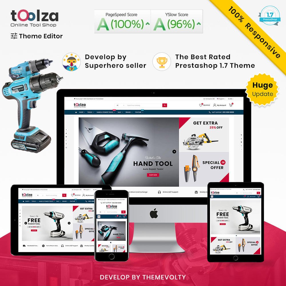 theme - Auto's & Motoren - Toolza Mega–Tools and Machine Super Store v3 - 1