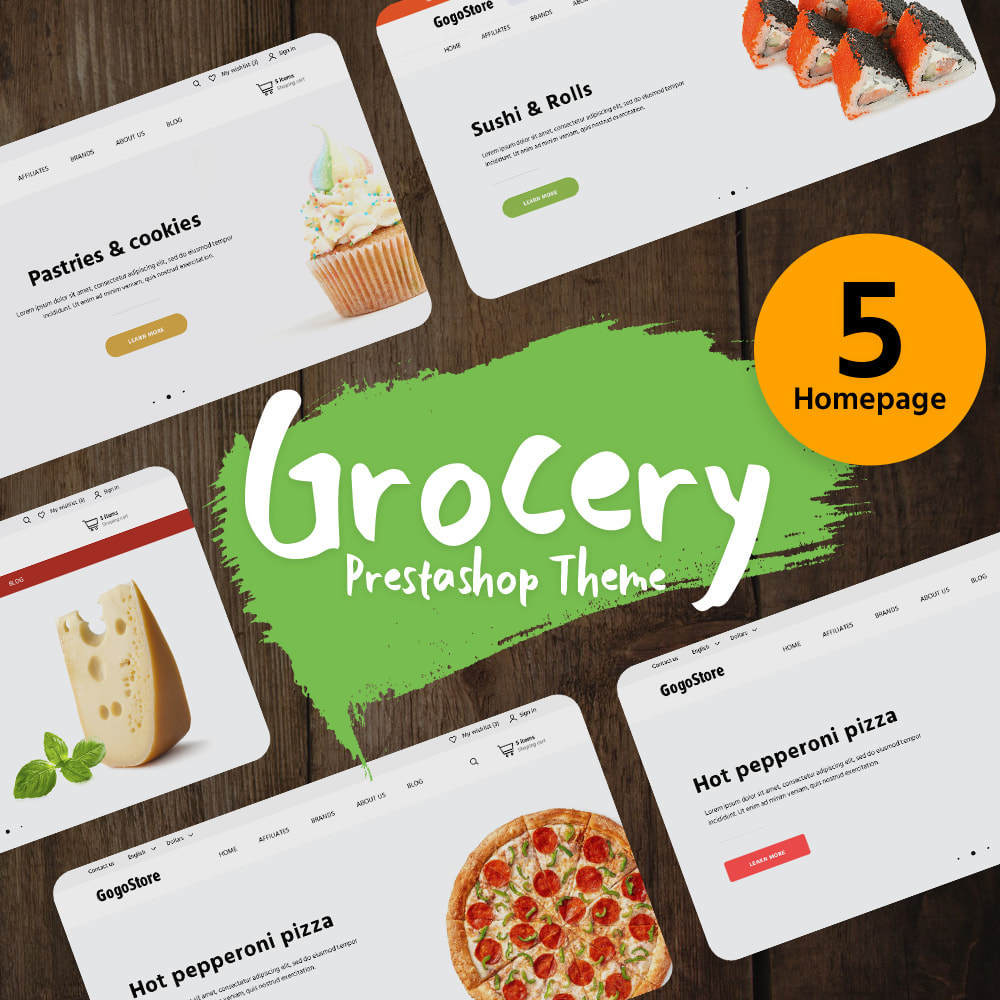 theme - Food & Restaurant - Grocery - 1