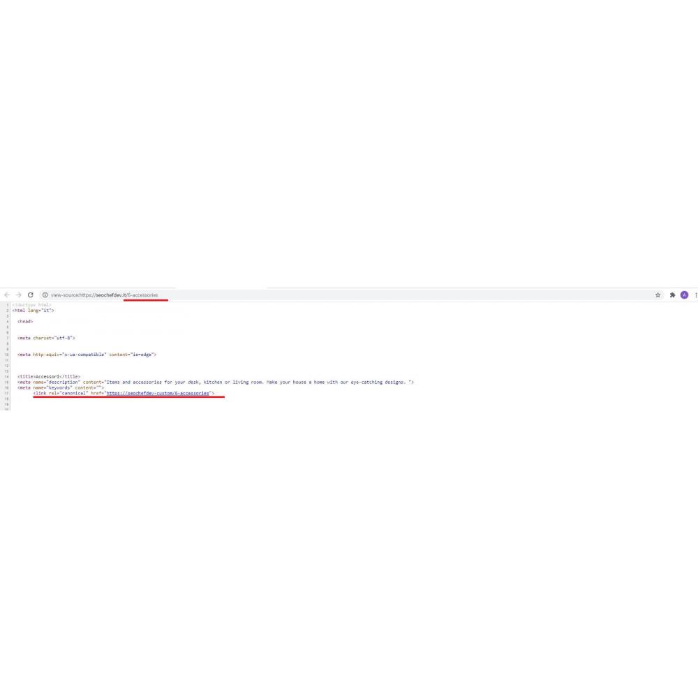module - SEO (Posicionamiento en buscadores) - Canonical & Hreflang SEO module - 4