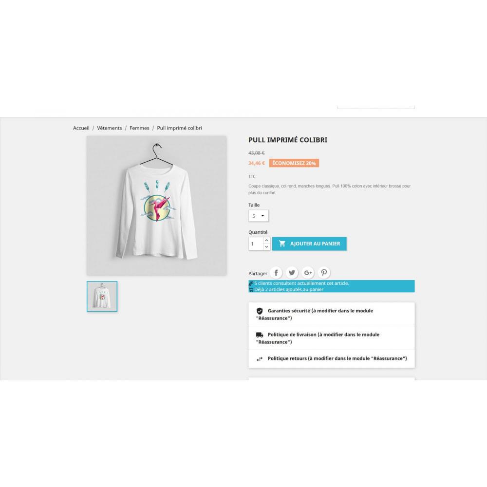 module - Information supplémentaire & Onglet produit - Compteur de visite sur la page produit - 4