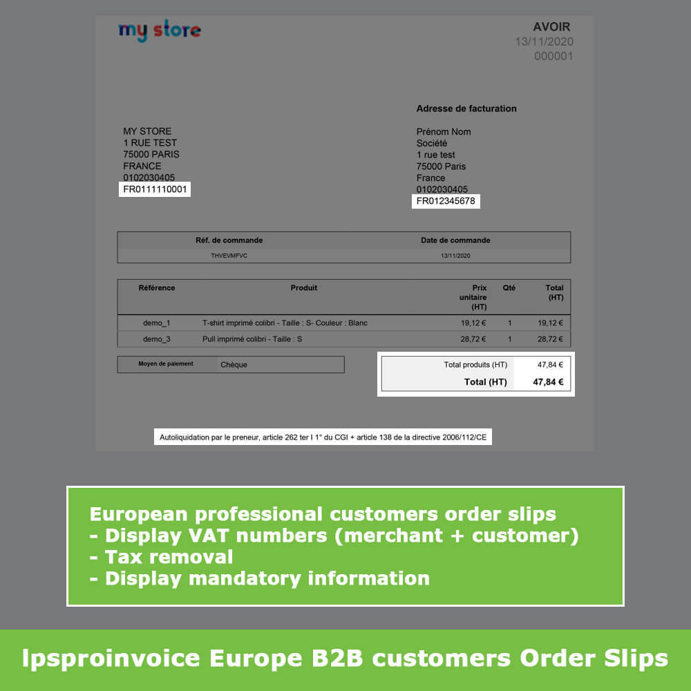 module - Buchhaltung & Rechnung - B2B Invoicing - Remove Tax (without VAT / Tax excl) - 11