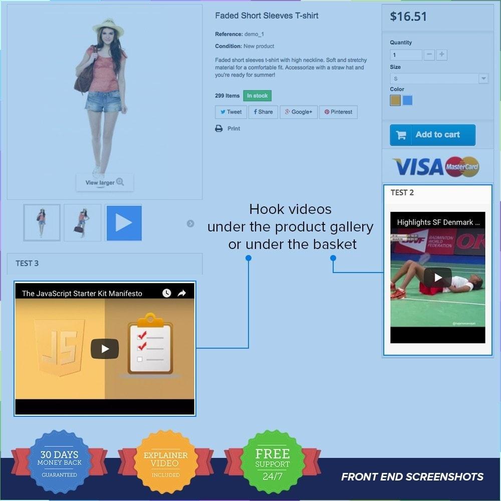 module - Video & Musica - Product Videos PRO - Youtube, Vimeo and Custom Video - 3