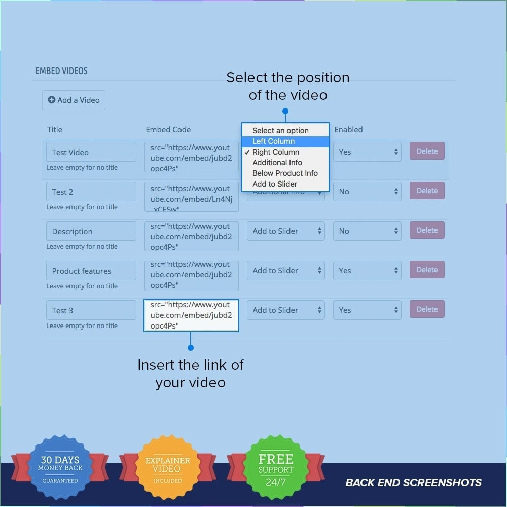 module - Vídeos y Música - Product Videos PRO - Youtube, Vimeo and Custom Video - 5