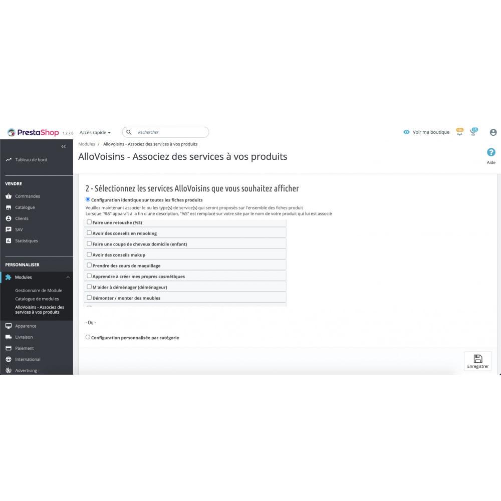 module - Comparateurs de prix - AlloVoisins - Associez des services à vos produits - 2