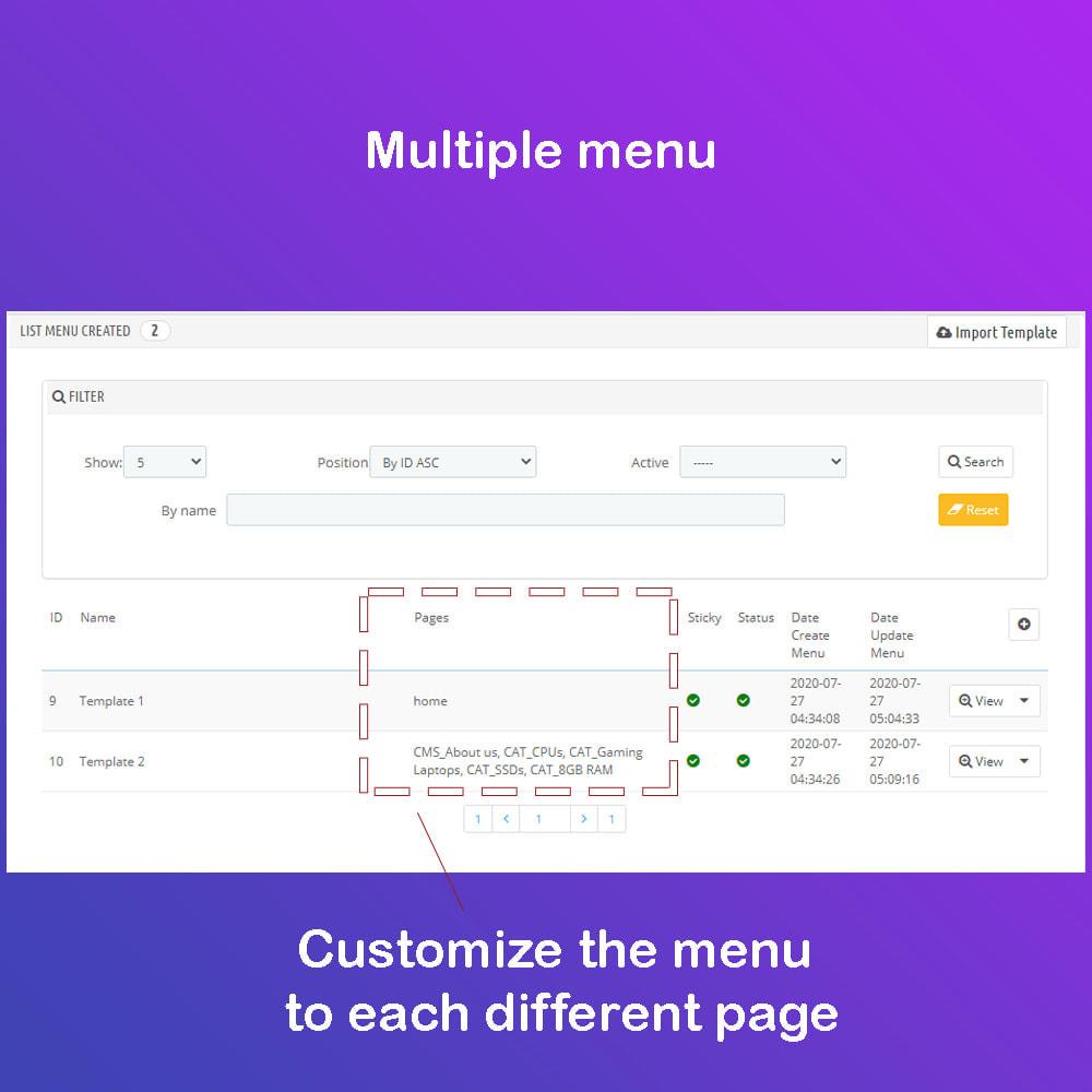 module - Menú - Mega Menu Premium - Design drag/drop Easier - 8