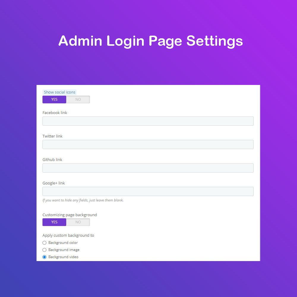 module - Panel de control - Personalizar la página de administración PRO - 4