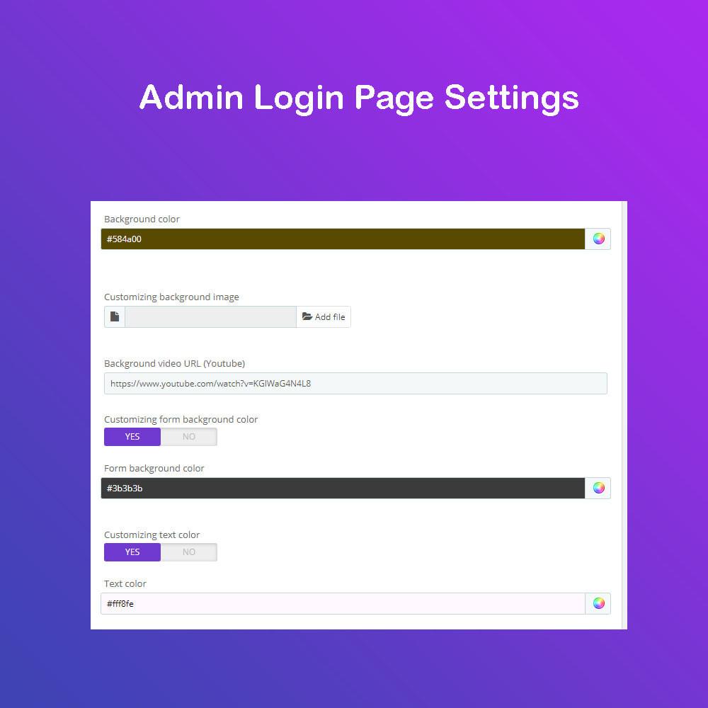 module - Panel de control - Personalizar la página de administración PRO - 5