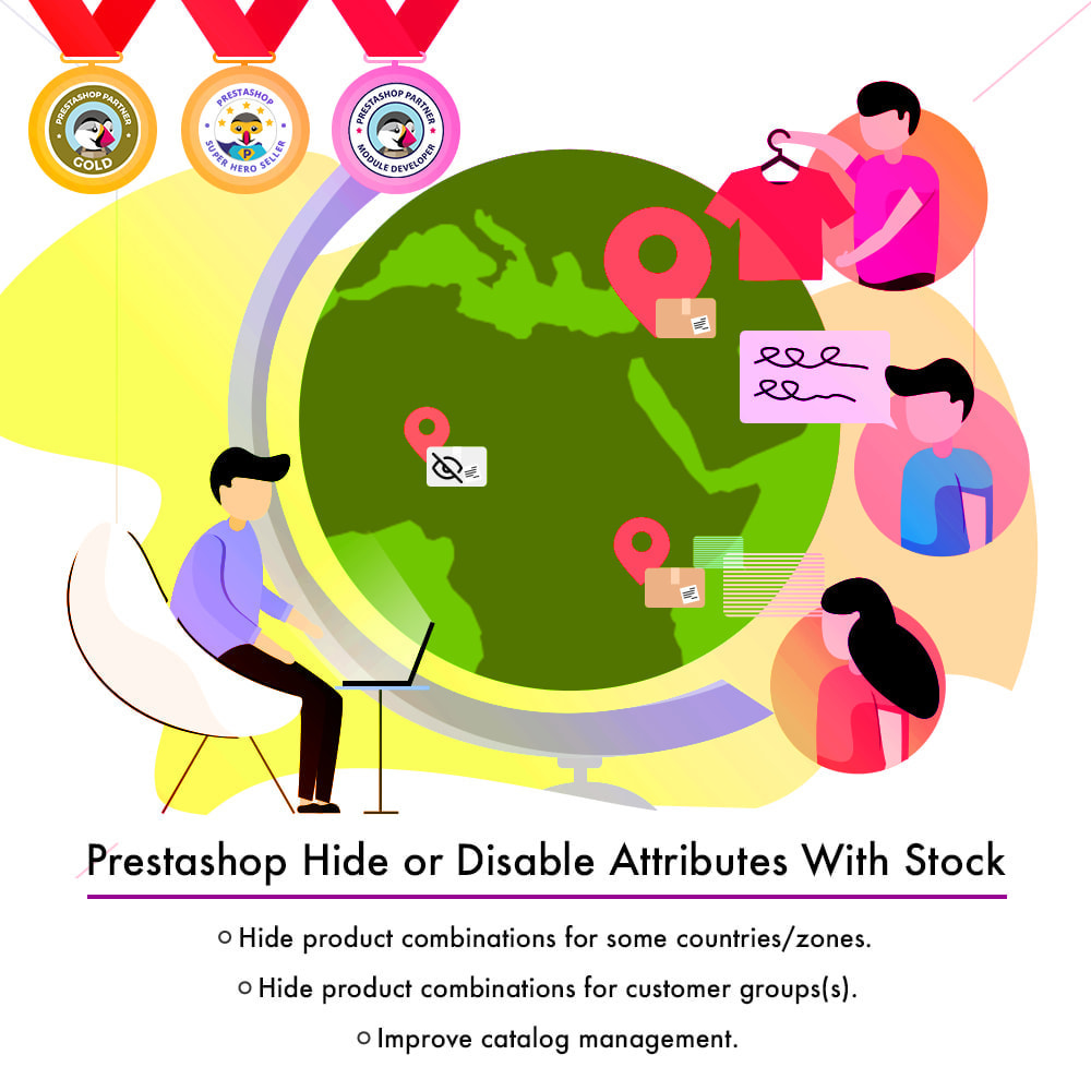 module - Combinations & Product Customization - Hide or Disable Attributes With Stock - 2