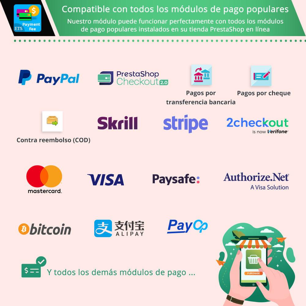 module - Otros métodos de pago - Tarifa de pago y métodos de pago personalizados - 2