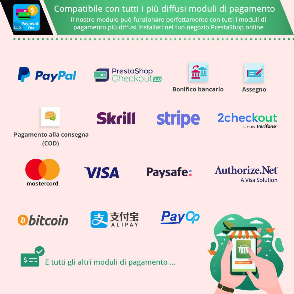 module - Altri Metodi di Pagamento - Payment With Fee: COD, Paypal, Stripe, bonifico, ecc. - 2