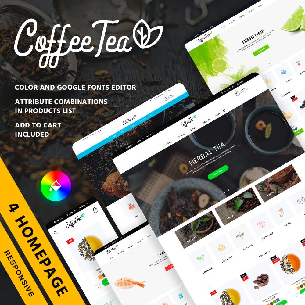 theme - Продовольствие и рестораны - Coffee Tea - 1