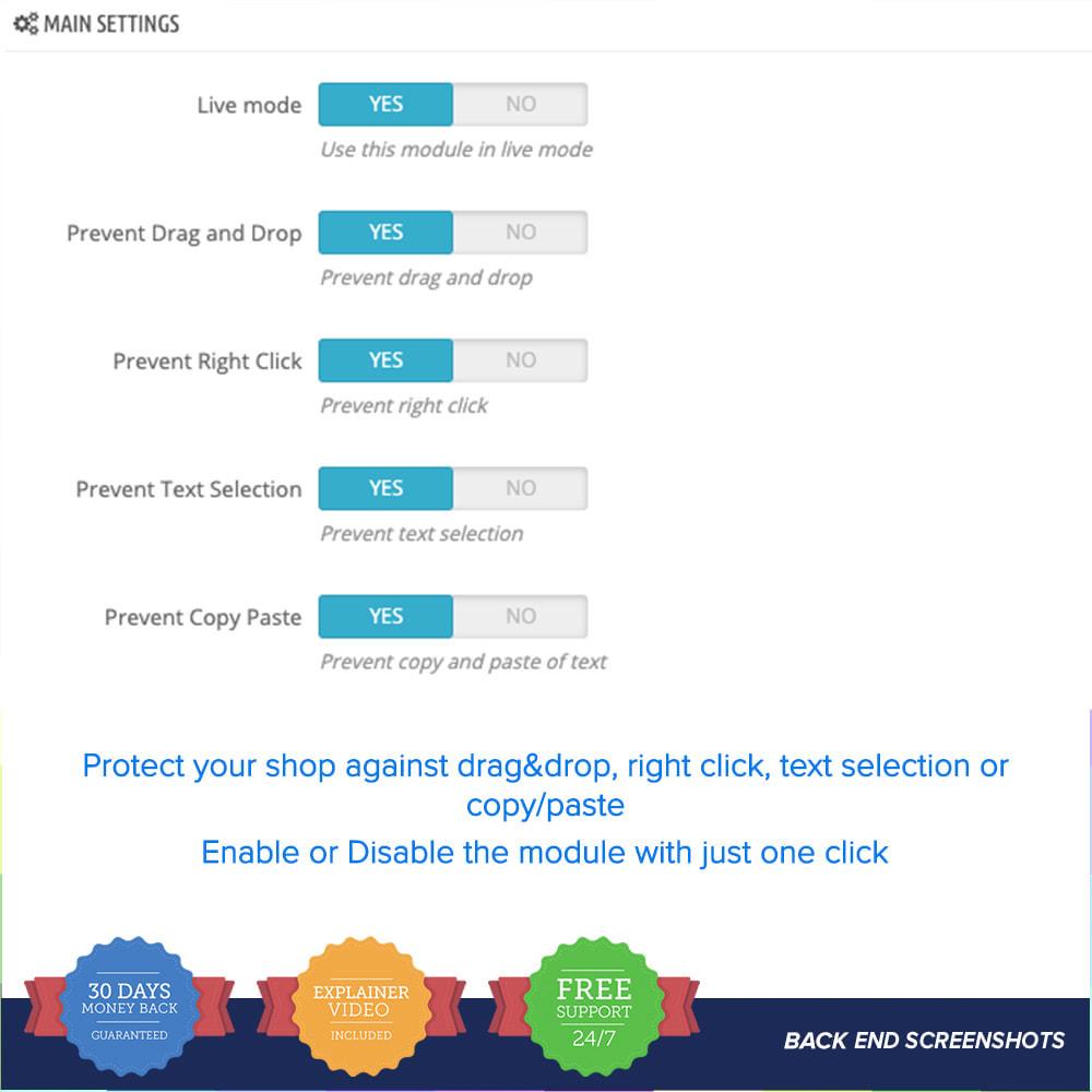 module - Sécurité & Accès - Protection du contenu PRO - 3