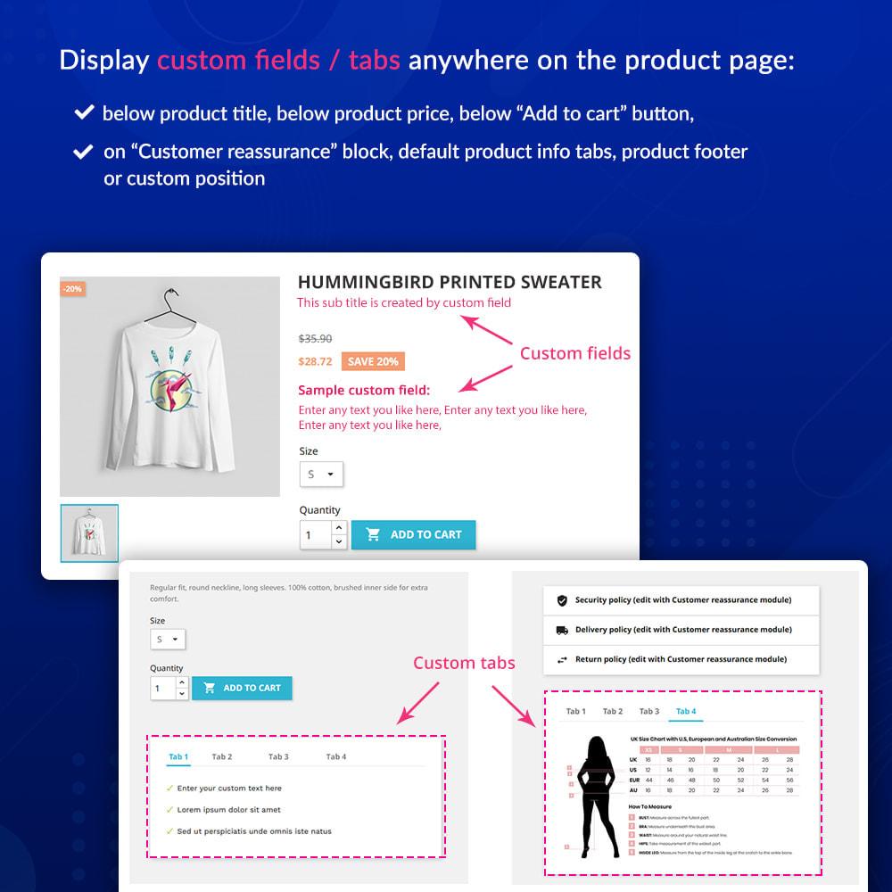 module - Дополнительной информации и вкладок товара - Custom fields & tabs on product page - 2