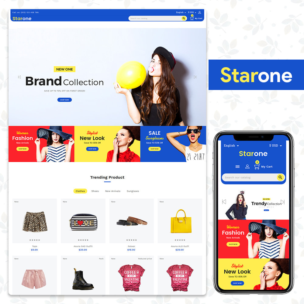 theme - Fashion & Shoes - Star One Store - 1