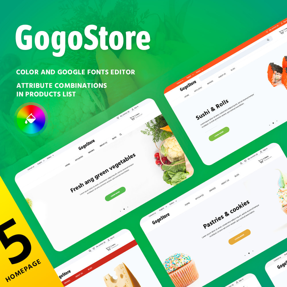 theme - Żywność & Restauracje - GogoStore - 1