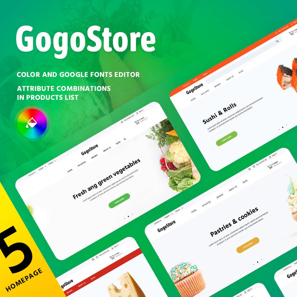 theme - Lebensmittel & Restaurants - GogoStore - 1