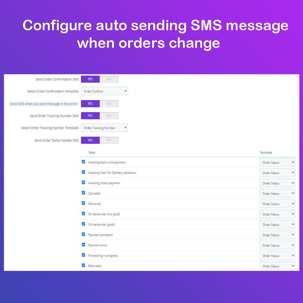 module - Newsletter y SMS - SMS Service PRO - Login/Reset Password - Pedido por SMS - 9