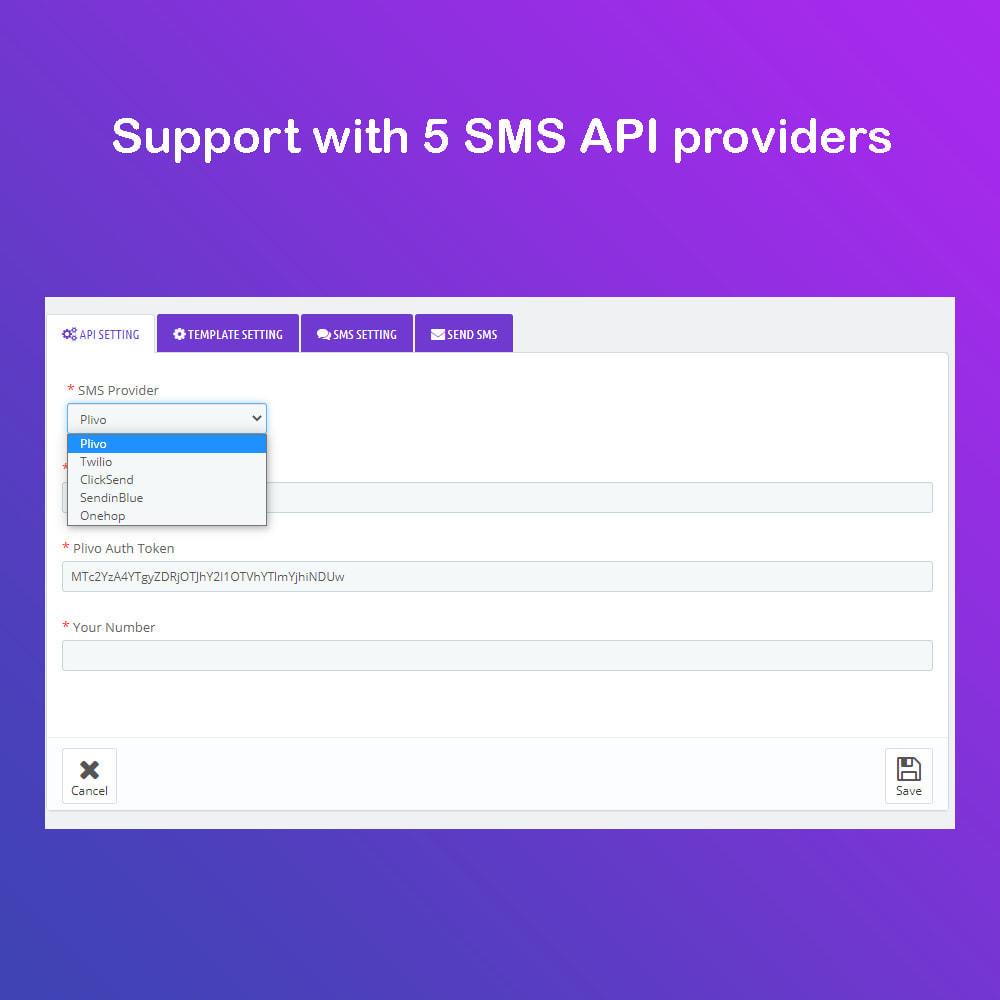 module - Newsletter & SMS - SMS Service PRO - Login/Reset password - Ordine via SMS - 5