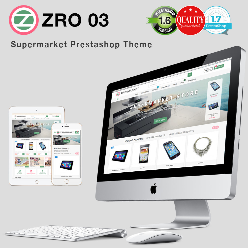 theme - Electrónica e High Tech - Zro03 - Supermarket Store - 1