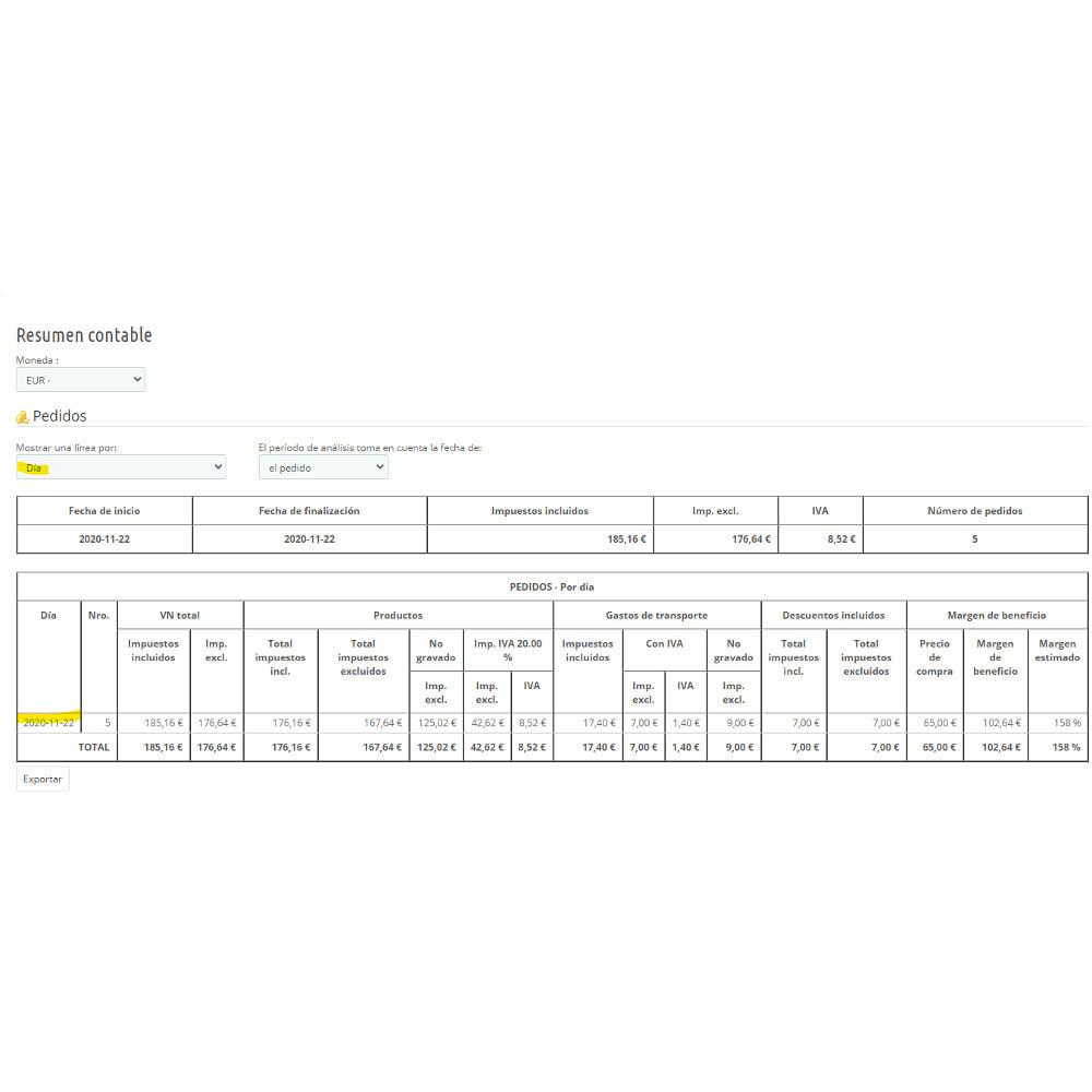 module - Contabilidad y Facturas - Síntesis contable para declaración de IVA - 5