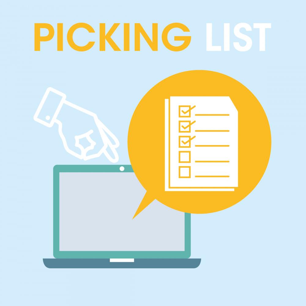 module - Preparazione & Spedizione - Pickinglist - lista dei prodotti da spedire - 1