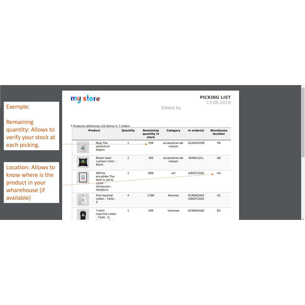 module - Preparazione & Spedizione - Pickinglist - lista dei prodotti da spedire - 5