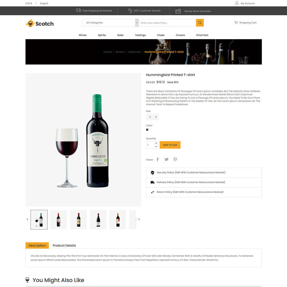 theme - Напитки и с сигареты - Scotch Wine -  Alcoholic drink Store - 5