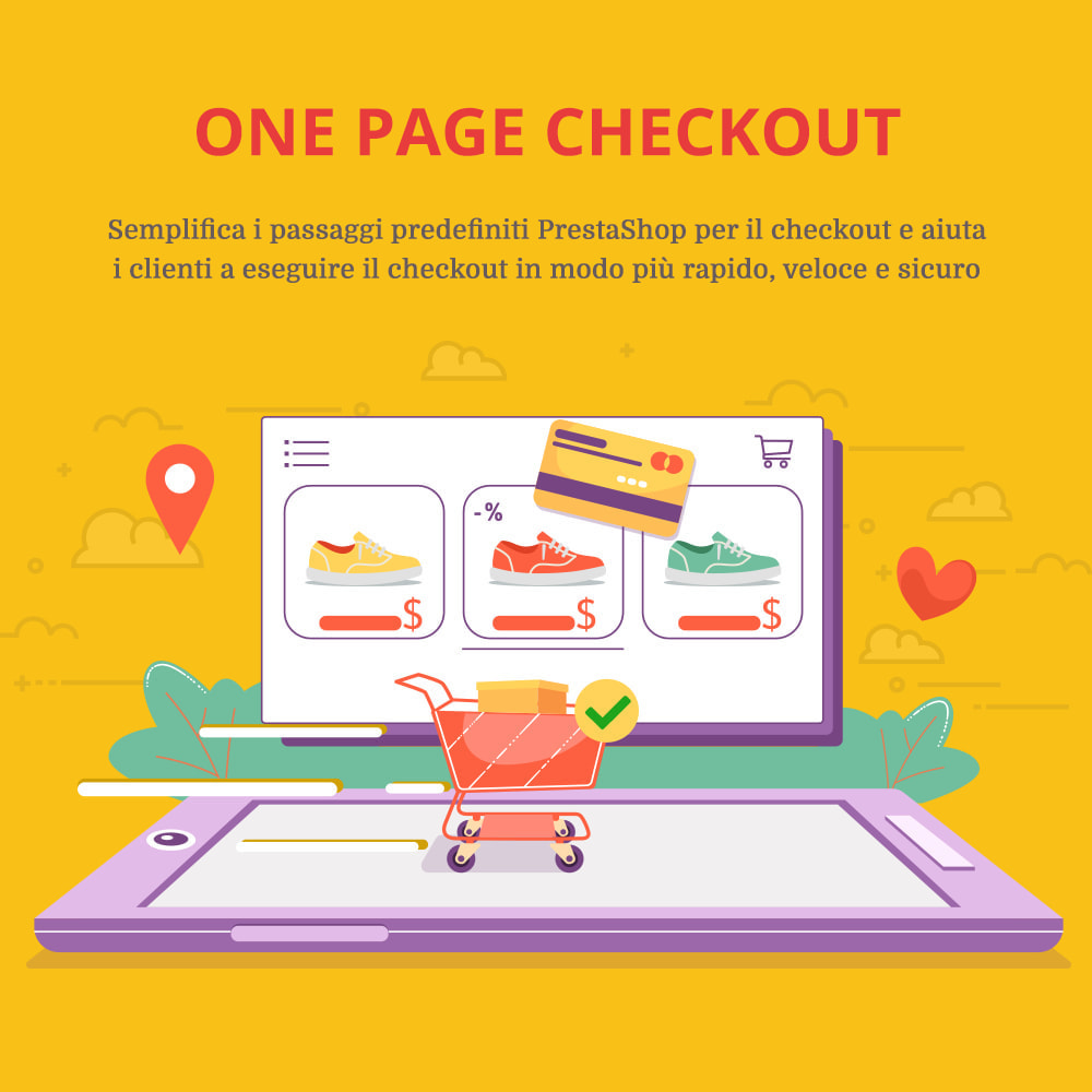 module - Express Checkout - ONE PAGE CHECKOUT - Veloce, Intuitivo & Professionale - 1