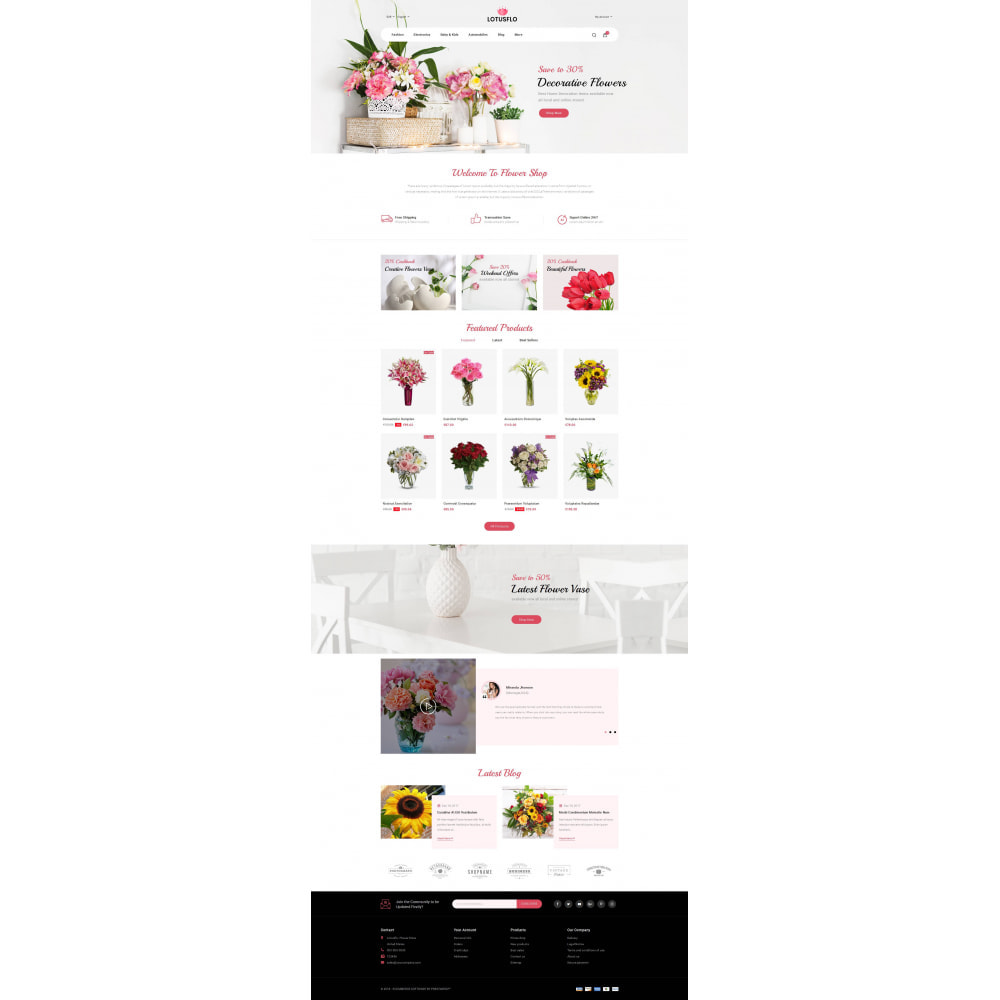 theme - Gifts, Flowers & Celebrations - Lotusflow - Flowers Shop - 2