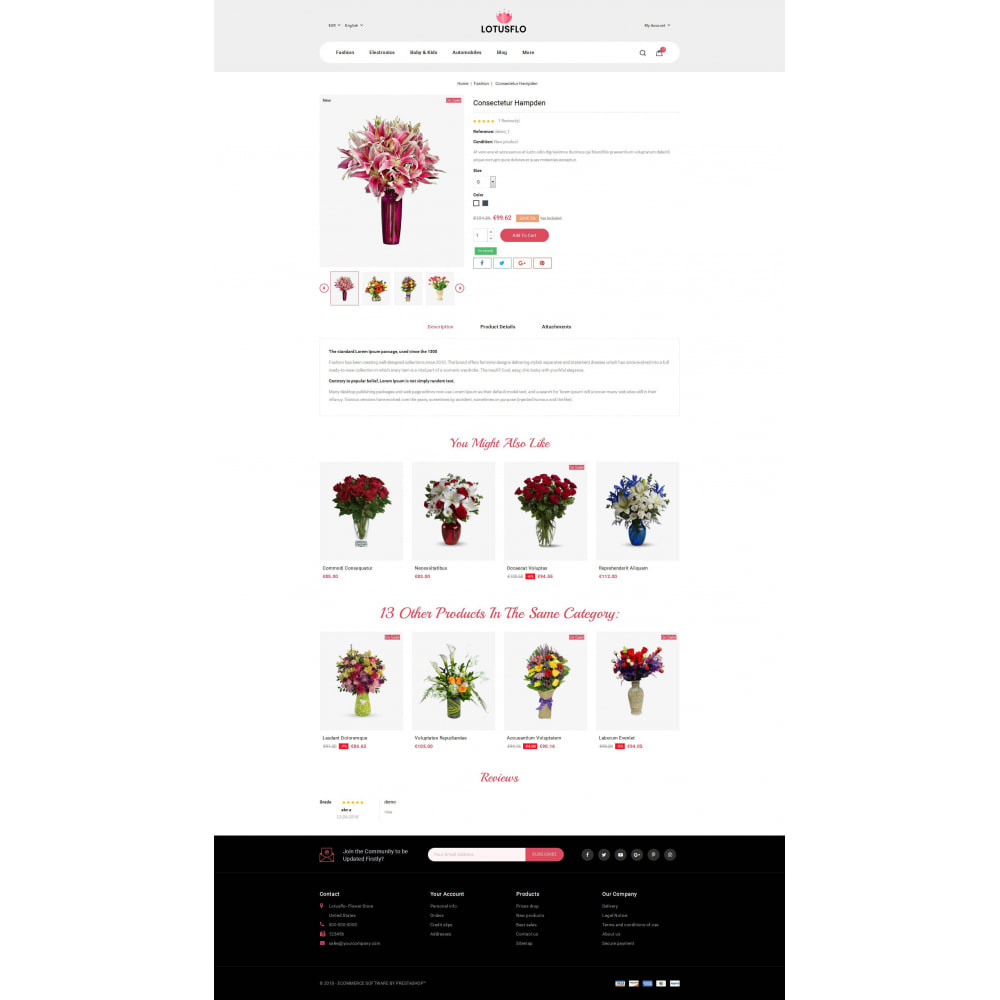 theme - Gifts, Flowers & Celebrations - Lotusflow - Flowers Shop - 5